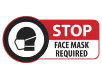 STOP FACE MASK REQUIRED (Indoor Facing)